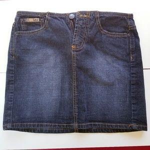 🎃 Lei denim Jean mini skirt size 5